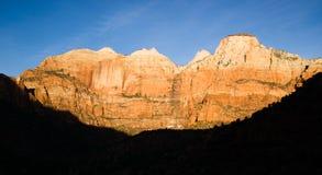 Sunrise High Mountain Buttes Zion National Park Desert Southwest Royalty Free Stock Image