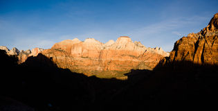 Sunrise High Mountain Buttes Zion National Park Desert Southwest Stock Photography