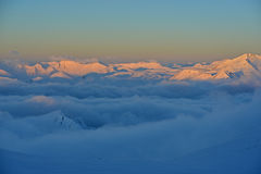 Sunrise in the high mountains Stock Image