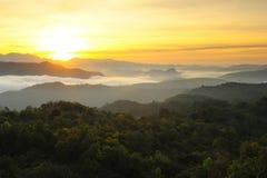 Sunrise on high peaks. Stock Images