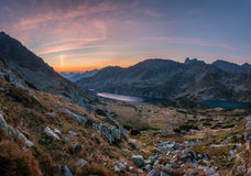 Sunrise in High Tatras mountains Stock Photography
