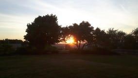 Sunrise. On the highest point in the Hammer. Sunshine Stock Image