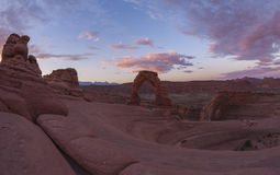 Sunrise hike to Delecate Arch Royalty Free Stock Photos