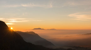 Sunrise. At the hill in Bali Stock Image