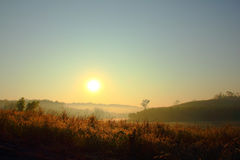 Sunrise at the hill Royalty Free Stock Photo