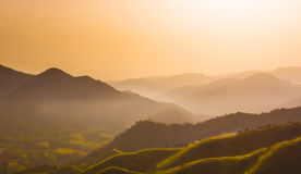 Sunrise on the hill of North Ethiopia stock photo