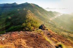 Sunrise in the Hills of Munnar Royalty Free Stock Photos