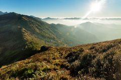 Sunrise in the Hills of Munnar Stock Photography