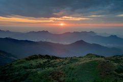 Sunrise in Hillside. Sunrise in Tai Mo Shan, Hong Kong Royalty Free Stock Image