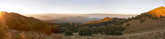 Sunrise Hilltop Panorama Royalty Free Stock Photos