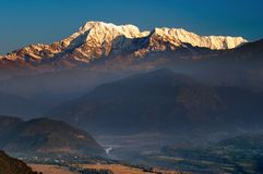 Sunrise in Himalaya Stock Image