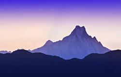 Sunrise in Himalaya. Beautiful sunrise in Himalaya mountains royalty free stock image