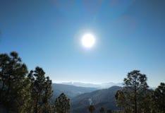 Sunrise in Himalaya. A beautiful view of sunrise in himalaya royalty free stock image
