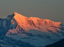 Sunrise on Himalaya Royalty Free Stock Photography