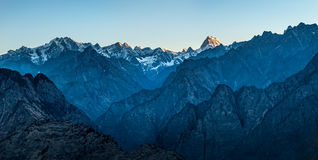Sunrise in the Himalayas Stock Photography