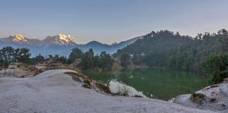 Sunrise at Himalayas. Sunrise during camping at Deoriya Taal, Himalayas, India Royalty Free Stock Image