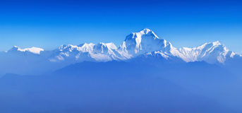 Sunrise at Himalayas (Dhaulagiri) Royalty Free Stock Image