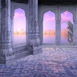 Sunrise. Sunrise in a hindu palace in the north of India Stock Image