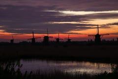 Sunrise in Holand Stock Photography