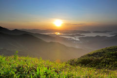 Sunrise in Hong Kong Stock Image