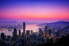 Sunrise in Hong Kong Royalty Free Stock Photos