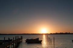 Sunrise. In the horizon on Funen Royalty Free Stock Photo