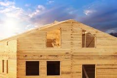 Sunrise  house  new  cottage Royalty Free Stock Image