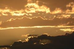 Sunrise in Huntington Beach Royalty Free Stock Photos