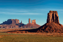 Sunrise in Hunts Mesa, Monument Valley Stock Photography