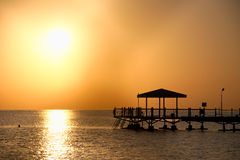 Sunrise at Hurghada. Hurghada, the resort in Egypt at Red sea Stock Image
