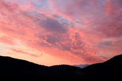 Sunrise Ibiza. Sunrise mountains Cala Carbo, Ibiza Royalty Free Stock Image