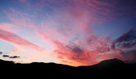 Sunrise Ibiza. Sunrise mountains Cala Carbo, Ibiza Royalty Free Stock Photography