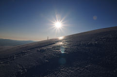 Sunrise in the ice Royalty Free Stock Images