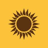 The sunrise icon. Sunrise and sunshine, weather, sun symbol. UI. Web. Logo. Sign. Flat design. App. Stock Royalty Free Stock Images