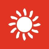 The sunrise icon. Sunrise and sunshine, weather, sun symbol. UI. Web. Logo. Sign. Flat design. App. Stock Stock Photo
