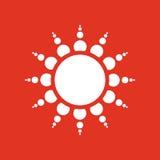 The sunrise icon. Sunrise and sunshine, weather, sun symbol. UI. Web. Logo. Sign. Flat design. App. Stock Royalty Free Stock Photo