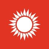 The sunrise icon. Sunrise and sunshine, weather, sun symbol. UI. Web. Logo. Sign. Flat design. App. Stock Stock Photos