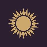 The sunrise icon. Sunrise and sunshine, weather, sun symbol. UI. Web. Logo. Sign. Flat design. App. Stock Stock Photography