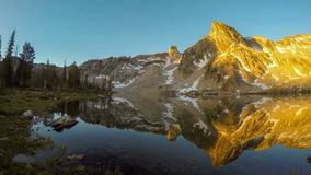 Sunrise on an Idaho mountain lake stock video