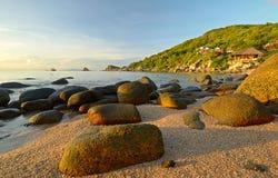 Sunrise on idyllic tropical beach Stock Image
