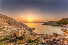Sunrise at Ile Rouse in Corsica Royalty Free Stock Photography
