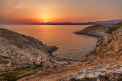 Sunrise at Ile Rousse in Corsica Royalty Free Stock Photography