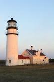 Sunrise illuminates Highland Light royalty free stock image