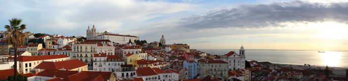 Sunrise In Alfama Stock Photos