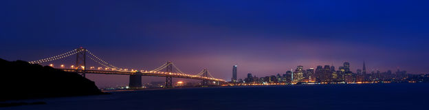 Sunrise In Downtown San Francisco Panorama Royalty Free Stock Image