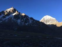 Sunrise In Hamalayan Mountains During Kora Around Mount Kailash In Tibet, China. Stock Photography