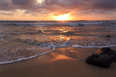 Sunrise In Lihue Royalty Free Stock Photos