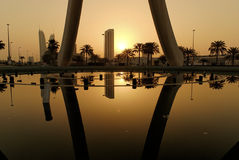 Sunrise In Manama Royalty Free Stock Photos