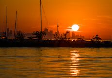 Free Sunrise In Toronto City. Harbour Yacht. Morning On The Lake. Stock Photography - 191236352