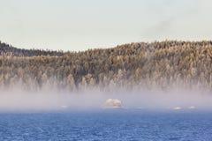 Sunrise at Inari lake, Finland Royalty Free Stock Photography